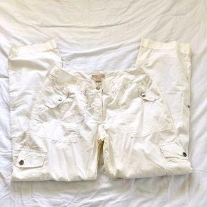 Michael Kors White Convertible Pants Size 10